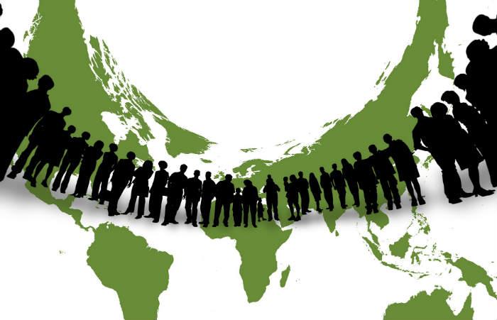 Menschen Kontinente